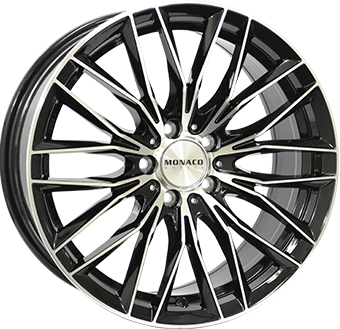 "18"" MONACO GP2 - Gloss Black / Polished 8x18 - ET37"