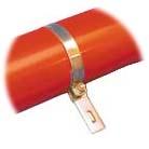 Brackets 140 mm for ham tube plastic (U)