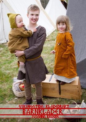 Mönster till vikingatida klädedräkt: barnkläder