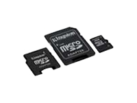 KINGSTON 32GB microSDHC Class 4 with 2 Adapters