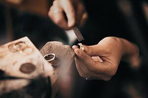 BeMarcAble Ringar gjorda av återvunnet guld och silver