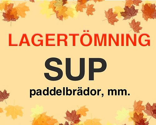 Lagerrensning SUP!