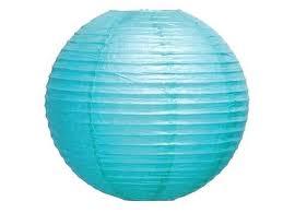 Paper Lantern. Blue. 30 cm