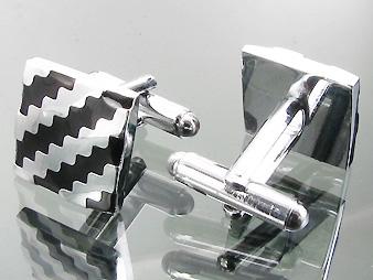 Manschettknappar Black and White