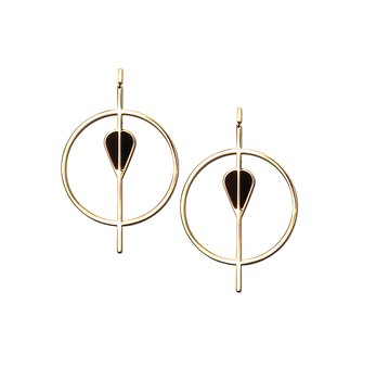 Vitae Golden Statement Earrings - Back in stock!