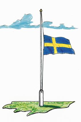 Flaggning på halv stång - Flaggfabriken National