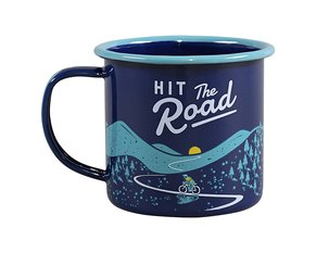 Hit The Road Enamel Mug 325 ml