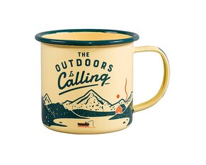 The Outdoors is Calling Emaljmugg  325 ml