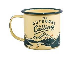 The Outdoors is Calling Enamel Mug 325 ml