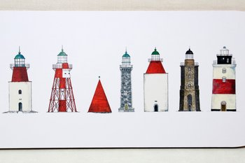 Swedish Lighthouses Cutting board 40x17 cm