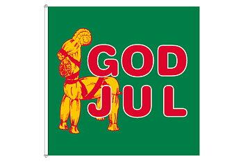 God Jul Bock flagga 180x180 cm