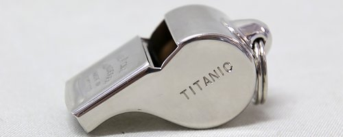 Titanic whistle from Acme  Saved over 700 lifes.