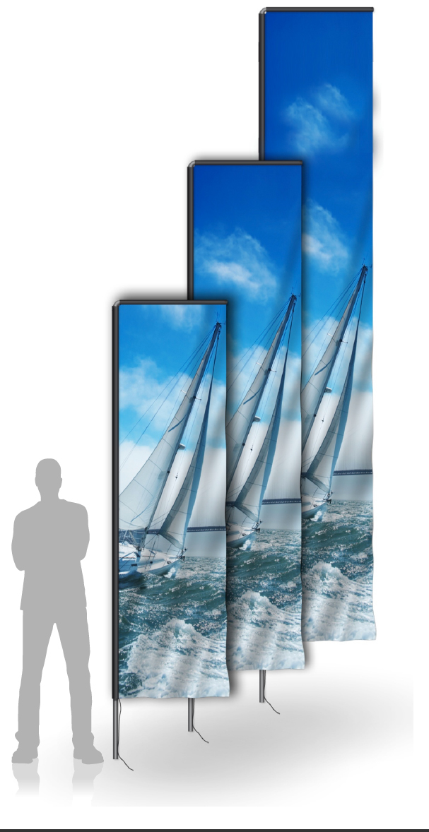 Rektangulära Beachflaggor