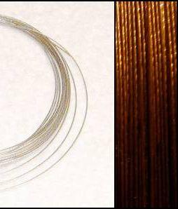 2,2m Wire 0,38mm: Dark Topaz + 20 AG klämpärlor