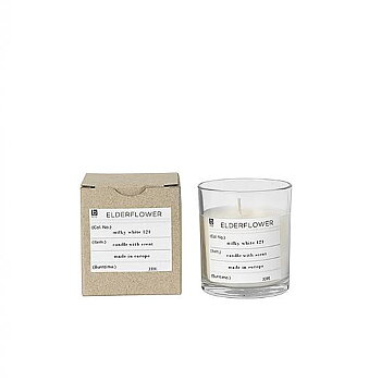 SCENTED CANDLE ELDERFLOWER IN GLASS JAR