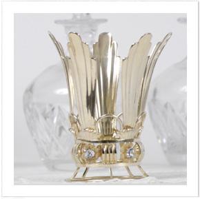 Brudkrona i förgyllt silver med akvamariner