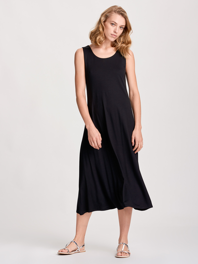 Solid Summer Dress Black