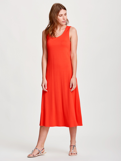Solid Summer Dress Red