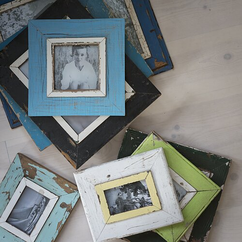Frames Made by recycled wood from old fishermen boats