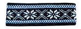 Borgund Headband - Navy blue & White