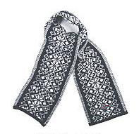 Hemsedal Scarf - Dark blue & Off White