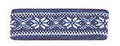Borgund Headband - Jeans blue & White