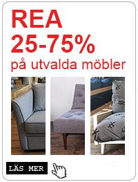 Rea 25-75% på utvalda möbler