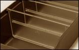 Avdelare till lagerlåda, 90 x 95 mm