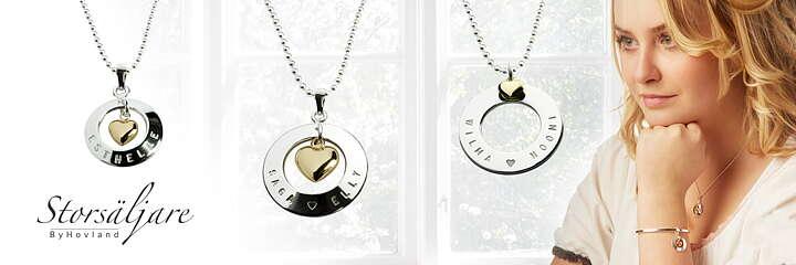 Namnsmycken och silversmycken design ByHovland 5a1221c7a6f21