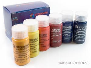 Stockmar Aquarellfärger 20ml 6pack