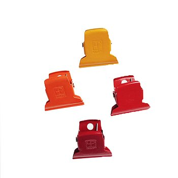 Curry and Chili colored Paper Clips - yellow, orange, red
