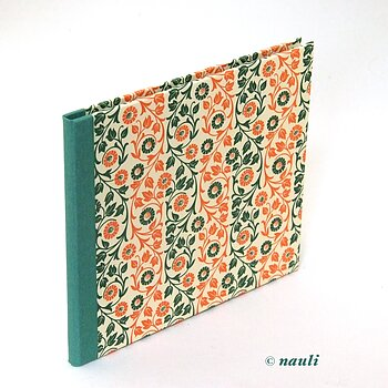CD/ DVD case  floral green orange