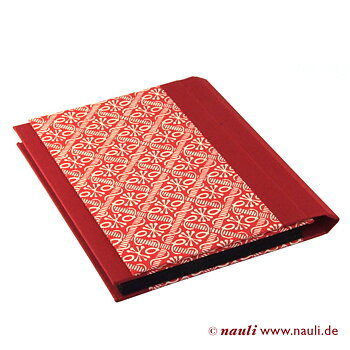 small accordion folder wax batik red