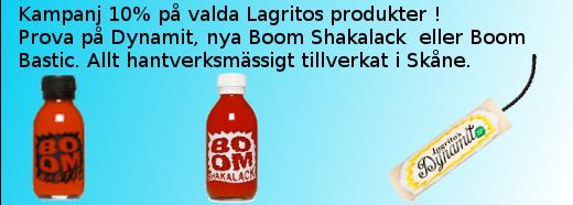 Kampanj 10 % rabatt på utvalda Lagrito's produkter