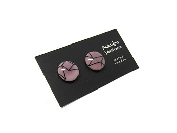 DOT earring - purple/black