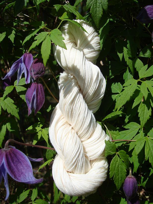 ekologiskt bomullsgarn naturvitt