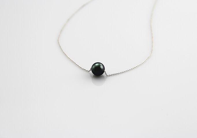 60bd308851e AAA-Kvalitet Tahiti perle på hvidguldskæde - Julia's Pearls