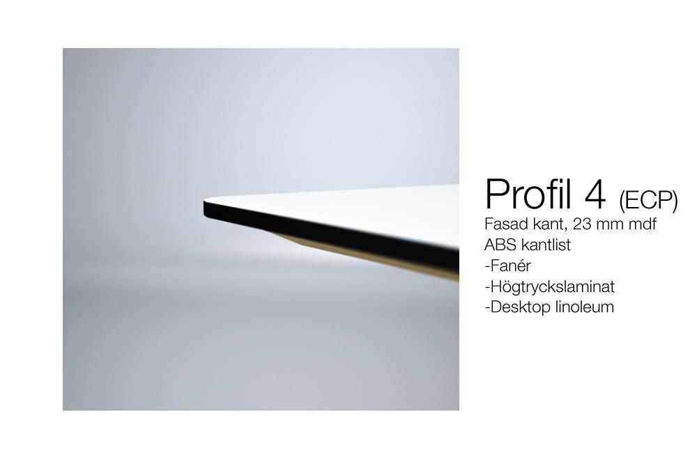 Skiva fasad kantprofil 4 - ECP