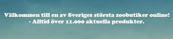 Välkommen till en av Sveriges största zoobutiker online! - Alltid över 11.000 aktuella produkter.