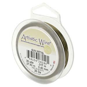 24 gauge non tarnish gun metal artistic wire.