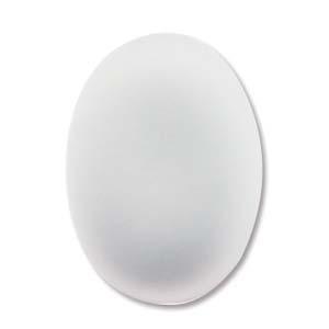 Lunasoft oval cab i färgen pearl (vit), 18,5*13,5 mm.