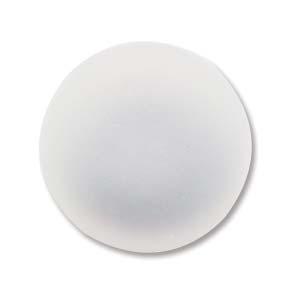 Lunasoft rund cab i färgen pearl (vit), 18 mm.