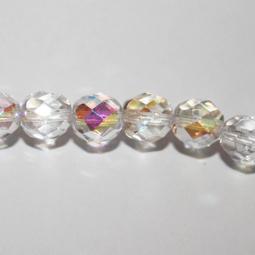 Fasetter i crystal AB, 8 mm. Ca 12 cm sträng.