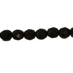 Fasetter i svart, 8 mm. Ca 12 cm sträng.