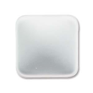 Lunasoft fyrkantig cab i färgen pearl (vit), 17 mm.