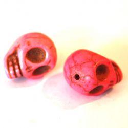Rosa Howlite döskallepärla, 13*18 mm.