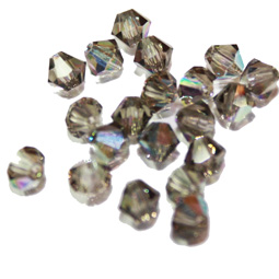 Preciosa bikoner i färgen Black Diamond AB, 4 mm. 10-pack.