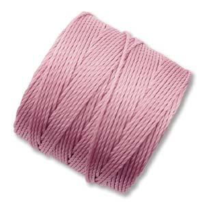 Persikorosa S-Lon pärl-och makramétråd