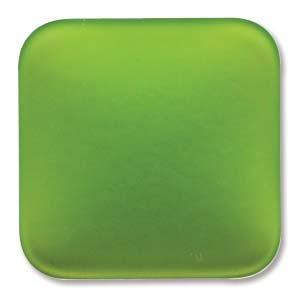 Lunasoft fyrkantig cab i limegrön, 22 mm.