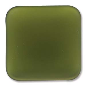 Lunasoft fyrkantig cab i olivgrönt, 22 mm.